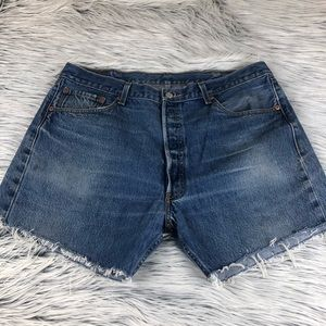 Levi's 501 button fly cut off shorts 36